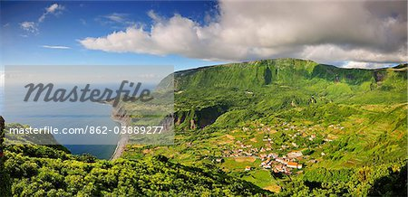 The little village of Fajazinha. The westernmost location in Europe. Flores, Azores islands, Portugal Stock Photo - Rights-Managed, Image code: 862-03889277