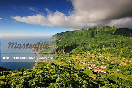 The little village of Fajazinha. The westernmost location in Europe. Flores, Azores islands, Portugal Stock Photo - Rights-Managed, Image code: 862-03889278