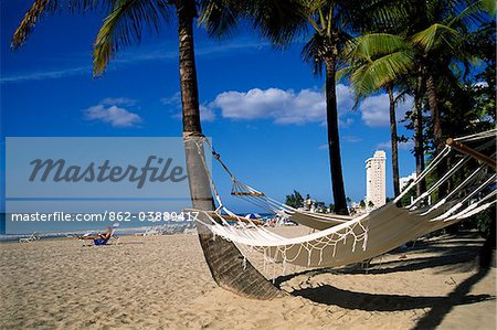Isla Verde Beach, San Juan, Puerto Rico, Caribbean Stock Photo - Rights-Managed, Image code: 862-03889417