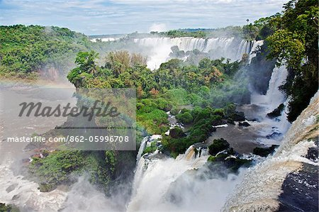 The spectacular Iguazu Falls of the Iguazu National Park, a World Heritage Site. Argentina Stock Photo - Rights-Managed, Image code: 862-05996708