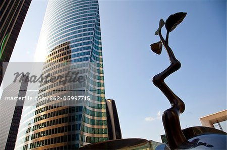 Tour EDF tower at La Defense, Paris, Ile de France, France, Europe Stock Photo - Rights-Managed, Image code: 862-05997715