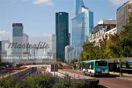 View of La Defense, Paris, Ile de France, France, Europe Stock Photo - Rights-Managed, Image code: 862-05997718