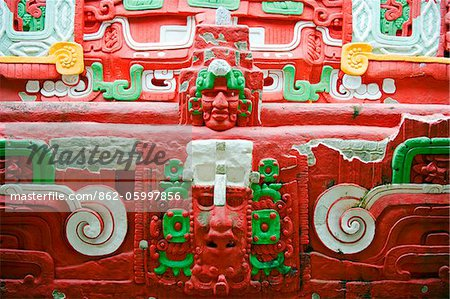 Central America, Honduras, Copan Ruins, Rosalila temple replica, Museum of Sculpture at Mayan archeological site, Unesco World Heritage site Stock Photo - Rights-Managed, Image code: 862-05997856