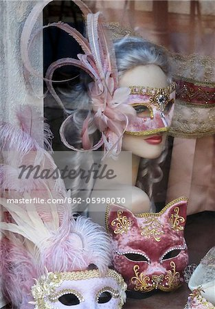 Venetian masks, Venice, Veneto region, Italy Stock Photo - Rights-Managed, Image code: 862-05998030