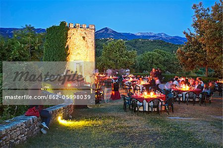 Italy, Lazio, Rieti District, Labro, 'calici sotto le stelle' festival, 'glasses under the stars'. Stock Photo - Rights-Managed, Image code: 862-05998039