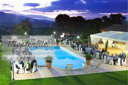 Italy, Umbria, italian wedding banquet. Stock Photo - Rights-Managed, Image code: 862-05998095