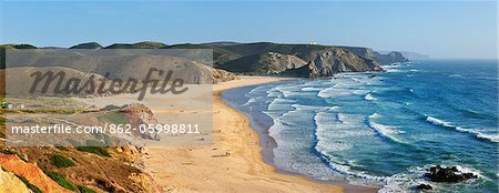 Amado beach, near Carrapateira. Algarve, Portugal Stock Photo - Rights-Managed, Image code: 862-05998811