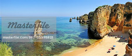 Dona Ana beach. Lagos, Algarve. Portugal Stock Photo - Rights-Managed, Image code: 862-05998818