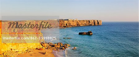 Sagres cape, where the great world discoveries of Portugal were planned by Infante Dom Henrique. Algarve Stock Photo - Rights-Managed, Image code: 862-05998825