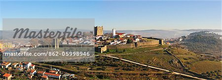 The castle and historical center of Braganca, one of the old cities of Portugal, Tras-os-Montes Stock Photo - Rights-Managed, Image code: 862-05998946