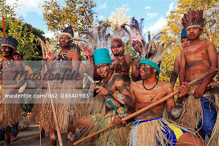 South America, Brazil, Miranda, Terena indigenous people from the Brazilian Pantanal Stock Photo - Rights-Managed, Image code: 862-06540983