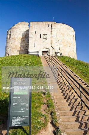 United Kingdom, England, North Yorkshire, York. Cliffords Tower. Stock Photo - Rights-Managed, Image code: 862-06541319