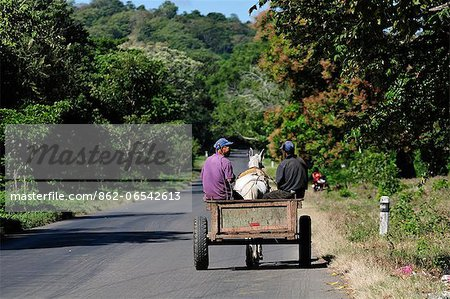 Local men in a horse and cart, Nicaragua, Central America Stock Photo - Rights-Managed, Image code: 862-06542613