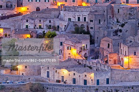 Italy, Basilicata, Matera district, Matera, Sassi di Matera, meaning stones of Matera, Stock Photo - Rights-Managed, Image code: 862-06677089