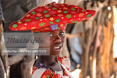 Herero tribal girl portrait, Damaraland, Namibia, Africa Stock Photo - Rights-Managed, Image code: 862-06677176