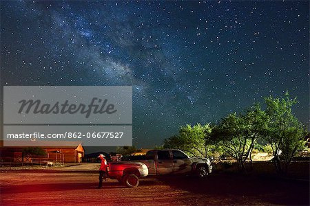 Cowboy and Truck at Apache Spirit Ranch, Tombstone, Arizona, USA Stock Photo - Rights-Managed, Image code: 862-06677527