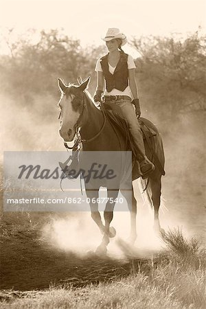 Cowgirl, Apache Spirit Ranch, Tombstone, Arizona, USA Stock Photo - Rights-Managed, Image code: 862-06677540