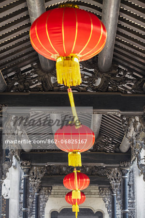 Lanterns at Chen Clan Academy, Guangzhou, Guangdong, China Stock Photo - Rights-Managed, Image code: 862-06825167