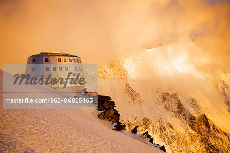 Europe, France, Haute Savoie, Rhone Alps, Chamonix Valley, Gouter Ridge on Mont Blanc Stock Photo - Rights-Managed, Image code: 862-06825463