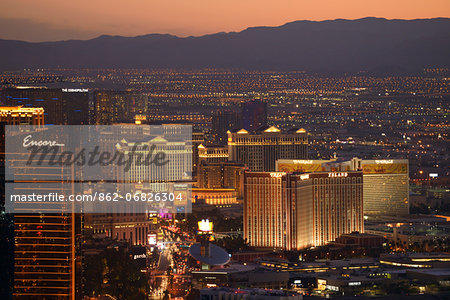 The Las Vegas Strip,Las Vegas, Clark County, Nevada, USA Stock Photo - Rights-Managed, Image code: 862-06826304