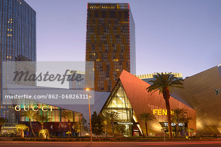City Center on the Las Vegas Strip,Las Vegas, Clark County, Nevada, USA Stock Photo - Rights-Managed, Image code: 862-06826311