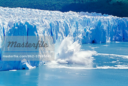 Glacier ice melting and icebergs, Moreno Glacier, Patagonia, Argentina, South America Stock Photo - Rights-Managed, Image code: 862-07495745