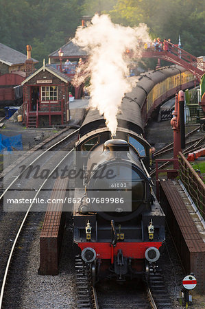 United Kingdom, England, North Yorkshire, Goathland. The steam train 61002, 'Impala', on the North Yorkshire Moors Railway. Stock Photo - Rights-Managed, Image code: 862-07689986