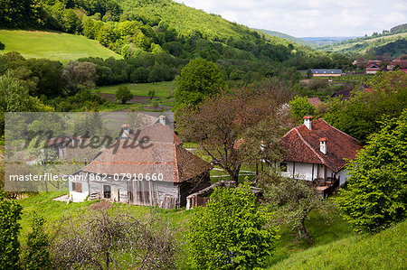 Romania, Transylvania, Zalanpatak. The guesthouses at Zalanpatak owned by The Prince of Wales. Stock Photo - Rights-Managed, Image code: 862-07910660