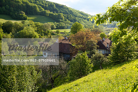 Romania, Transylvania, Zalanpatak. The guesthouses at Zalanpatak owned by The Prince of Wales. Stock Photo - Rights-Managed, Image code: 862-07910661