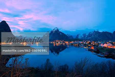 Europe, Scandinavia, Norway, Lofoten islands, Moskenesoy, Reine Stock Photo - Rights-Managed, Image code: 862-08090991