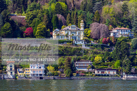 Scenic view of Lake Maggiore, Stresa, Piedmont, Italy Stock Photo - Rights-Managed, Image code: 862-08273365