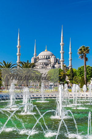 Sultan Ahmed Mosque or Blue Mosque, Sultanahmet, Istanbul, Turkey Stock Photo - Rights-Managed, Image code: 862-08273897