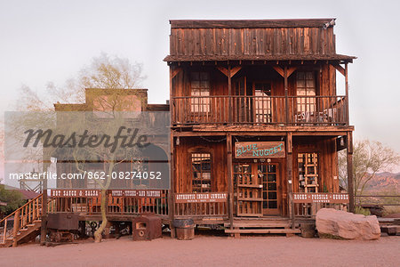 USA, Arizona, Phoenix, Goldfield Ghost Town, The Blue Nugget Gift Shop Stock Photo - Rights-Managed, Image code: 862-08274052