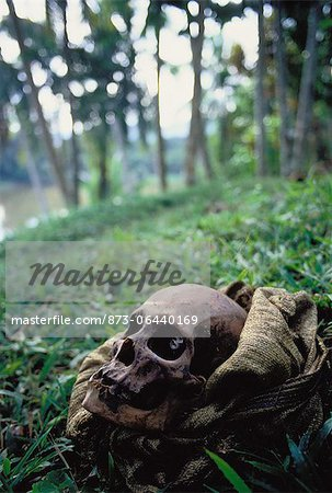 Skull in Bag Papua New Guinea Stock Photo - Rights-Managed, Image code: 873-06440169
