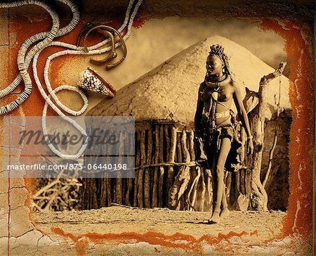 Himba Woman Namibia Stock Photo - Rights-Managed, Image code: 873-06440198