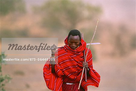 Masai Tribesman Tanzania Stock Photo - Rights-Managed, Image code: 873-06440205
