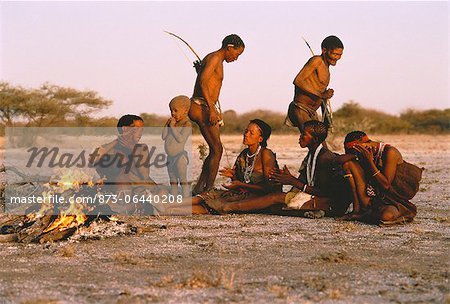 Bushmen Singing and Dancing Kalahari Desert, Botswana Stock Photo - Rights-Managed, Image code: 873-06440208