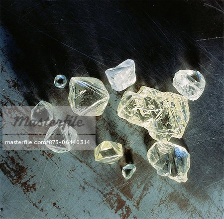 Uncut Diamonds Stock Photo - Rights-Managed, Image code: 873-06440314
