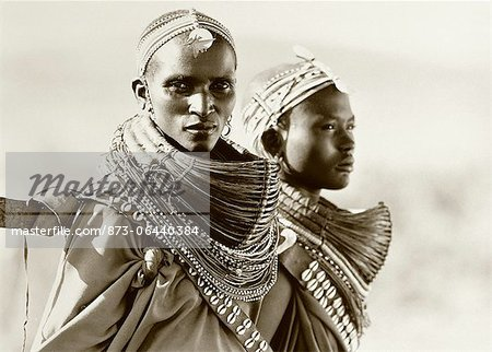 Portrait of Two Masai Women Tanzania Stock Photo - Rights-Managed, Image code: 873-06440384