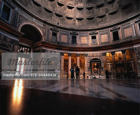 Interior of The Pantheon Rome, Italy Stock Photo - Rights-Managed, Image code: 873-06440416