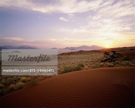 Overview of Landscape at Sunset Naukluft Park, Namibia, Africa Stock Photo - Rights-Managed, Image code: 873-06440471