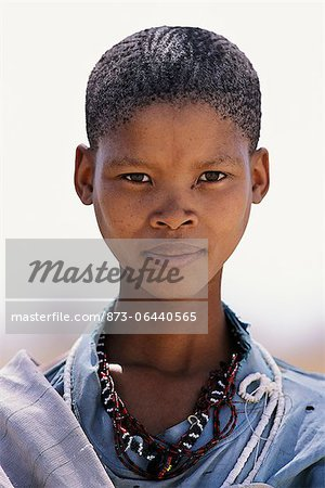 Portrait of Bushman Child Outdoors Namibia, Africa Stock Photo - Rights-Managed, Image code: 873-06440565