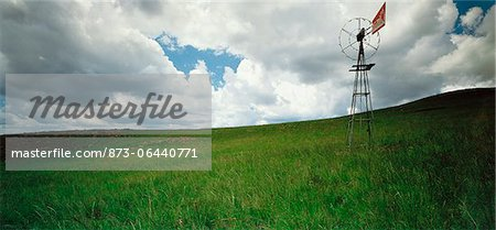 Windmill in Grassland Gauteng, South Africa Stock Photo - Rights-Managed, Image code: 873-06440771