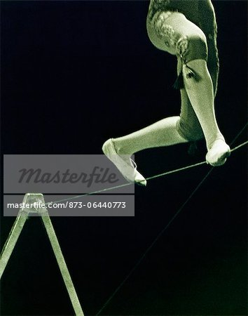 Person Balancing on Tightrope Stock Photo - Rights-Managed, Image code: 873-06440773