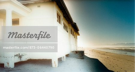 Beach House Muizenberg Beach Western Cape, South Africa Stock Photo - Rights-Managed, Image code: 873-06440790