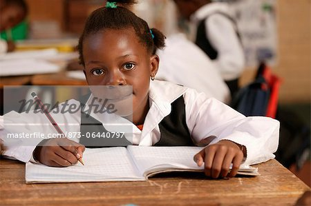 Girl in a Classroom Gauteng, South Africa Stock Photo - Rights-Managed, Image code: 873-06440797