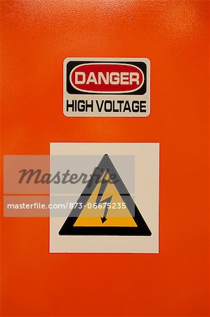 Closeup shot of danger sign Stock Photo - Rights-Managed, Image code: 873-06675235