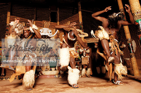 Zulu Dancers, Shakaland Stock Photo - Rights-Managed, Image code: 873-07156963