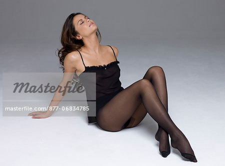 Young woman in lingerie Stock Photo - Rights-Managed, Image code: 877-06834785
