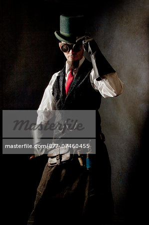 Duelist steampunk Stock Photo - Rights-Managed, Image code: 877-07460455